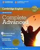 Cambridge English : Complete advanced. Student's book with answers