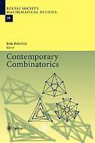 Contemporary combinatorics