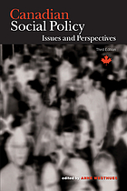 Canadian Social Policy: Issues and Perspectives cover image