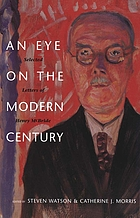 An eye on the modern century : selected letters of Henry McBride