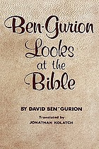Ben-Gurion looks at the Bible.