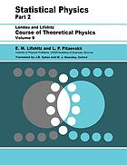 Course of theoretical physics. 9. Statistical physics ; 2