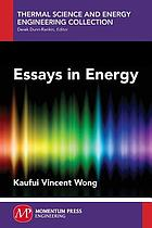 Essays in energy