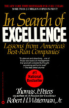 In search of excellence : lessons from America's best-run companies