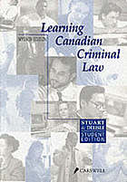 Learning Canadian criminal law