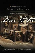 Dear editor : a history of Poetry in letters : the first fifty years, 1912-1962