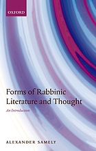 Forms of rabbinic literature and thought : an introduction