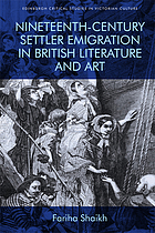 Nineteenth-century settler emigration in British literature and art