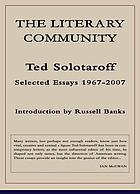 The literary community : selected essays, 1967-2007