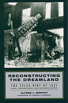 Reconstructing the dreamland : the Tulsa race riot of 1921 : race, reparations, and reconciliation
