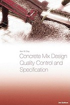 Concrete mix design, quality control and specification
