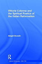 Vittoria Colonna and the spiritual poetics of the Italian Reformation