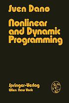 Nonlinear and dynamic programming ; an introduction