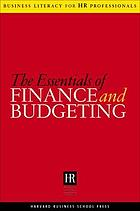 The essentials of finance and budgeting.