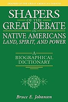 Shapers of the great debate on Native Americans--land, spirit, and power : a biographical dictionary
