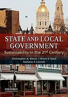 State and local government : sustainability in the 21st century