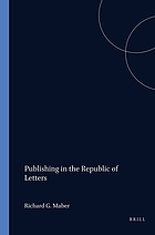 Publishing in the Republic of Letters : the Ménage-Graevius-Wetstein correspondence, 1679-1692