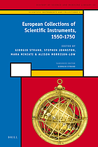 European collections of scientific instruments, 1550-1750