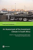 An assessment of the investment climate in South Africa