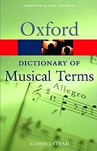 The Oxford dictionary of musical terms