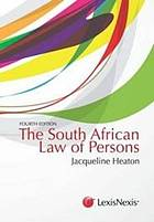 The South African law of persons