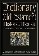 Dictionary of the Old Testament : historical books