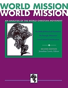 World mission : an analysis of the world Christian movement
