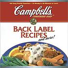 Back label recipes and more!.