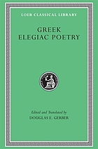 Greek elegiac poetry from the seventh to the fifth centuries BC