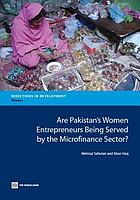 Are Pakistan's women entrepreneurs being served by the microfinance sector?