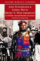 Henry V, war criminal? : and other Shakespeare puzzles