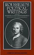 Rousseau's political writings : Discourse on inequality, Discourse on political economy, On social contract