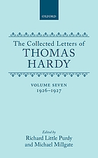 The collected letters of Thomas Hardy