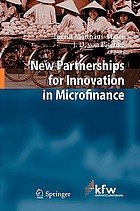 New partnerships for innovation in microfinance