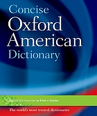 Concise Oxford American dictionary.