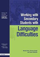Working with secondary students who have language difficulties