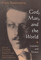 God, man, and the world : lectures and essays