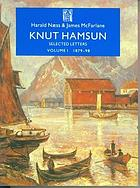 Knut Hamsun : selected letters