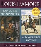 Rain on a mountain fork A ranger rides to town