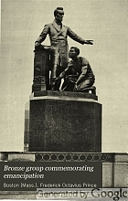 Bronze group commemorating emancipation.
