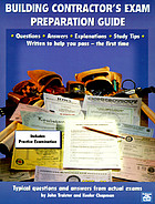 Building contractor's exam preparation guide : based on the latest building codes