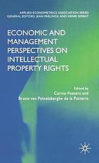 Economic and management perspectives on intellectual property rights