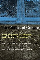 The politics of culture : policy perspectives for individuals, institutions, and communities