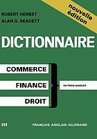 Dictionary of Commercial, Financial and Legal Terms