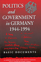 Politics and government in Germany, 1944-1994 : basic documents