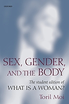 Sex, gender and the body