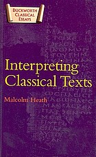 Interpreting classical texts