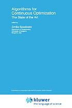 Algorithms for continuous optimization--the state of the art