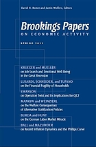 Brookings papers on economic activity : spring 2011
