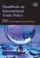 Handbook on international trade policy